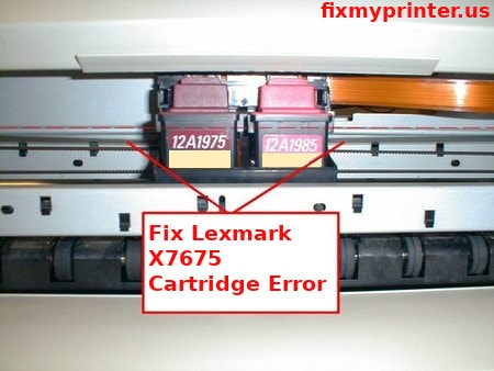 lexmark x7675 cartridge error
