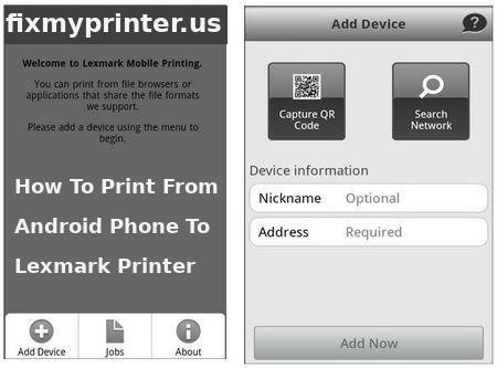 how to print from android phone to lexmark printer
