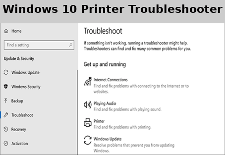 windows 10 printer troubleshooter