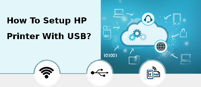 how to setup hp printer with usb