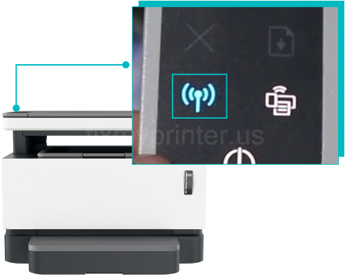Connect HP Neverstop Laser MFP 1202w to Wi-Fi