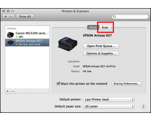 How to scan from Epson printer to Mac